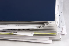 Home office paper filer. Folder for organizing paper documents in the home-office Stock Photography