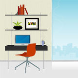 Home Office Rétro-Moderne   illustration stock