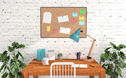 Home office room interior in modern and loft decoration Stock Photography