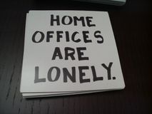 Home offices are lonely - 23112006159 Royalty Free Stock Photos