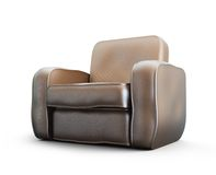 Home old leather armchair Royalty Free Stock Photography
