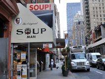 Home of The Original Soup Man Stock Images