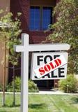 A HOME ou o escritório novo venderam o sinal Fotografia de Stock