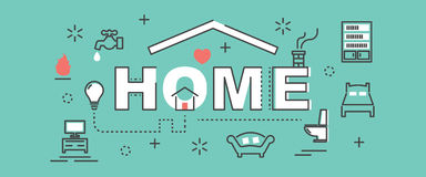 Home outline banner Royalty Free Stock Photos