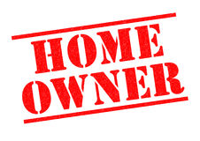 HOME OWNER. Red Rubber Stamp over a white background Stock Images