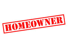 HOME OWNER. Red Rubber Stamp over a white background Stock Image