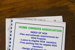 Home owners association. Concept of regulation and dues Stock Images