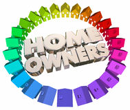 Home Owners Buyers Houses Association Neighborhood. 3d Illustration royalty free illustration