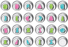 Home page 3d button shapes Stock Images