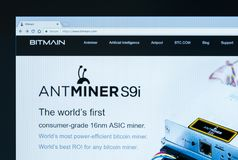 Home page of Bitmain Technologies Ltd. KYRENIA, CYPRUS - JULY 26, 2018: Home page of Bitmain Technologies Ltd. Bitmain is a Chinese company, largest bitcoin stock images
