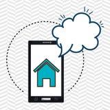 Home Page de la nube del smartphone stock de ilustración