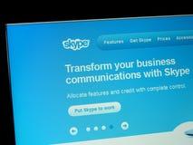 Home Page de Skype photographie stock libre de droits