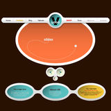 Home Page del diseño web Imágenes de archivo libres de regalías
