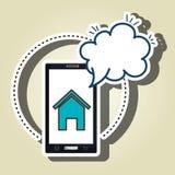 Home Page della nuvola dello smartphone Fotografie Stock Libere da Diritti