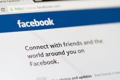 Home Page di Facebook Immagini Stock
