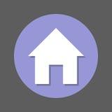 Home Page, icona piana della Camera Bottone variopinto rotondo, segno circolare di vettore con effetto ombra Progettazione piana  Fotografia Stock Libera da Diritti