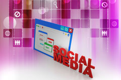 Home Page sociale di media Fotografie Stock