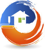 home painting logo royalty free illustration