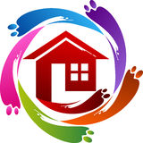 Home painting logo Stock Photos