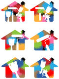 Home painting logo Royalty Free Stock Photography