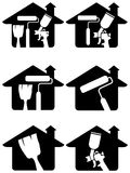 Home painting logo set Royalty Free Stock Photo