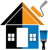 Home painting. Vector illustration of painting home Stock Photo