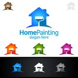 Home Painting Vector Logo Design. Painting Service vector Logo design Royalty Free Stock Images