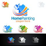 Home Painting Vector Logo Design. Painting Service vector Logo design Royalty Free Stock Photo