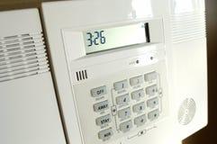home panel för alarm Arkivfoto
