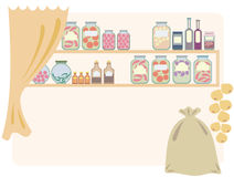 Home pantry for food. Illustration Royalty Free Stock Image