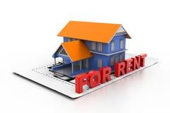 HOME para o aluguel Imagem de Stock Royalty Free