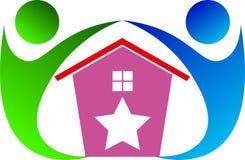 HOME para o cuidado ilustração royalty free