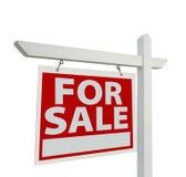 HOME para o sinal dos bens imobiliários da venda Imagens de Stock