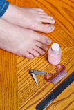 Home Pedicure Royalty Free Stock Photography