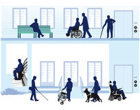 Home for people with disability Stock Photo