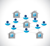 Home people network illustration design Stock Photos