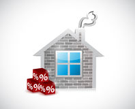 Home and percentage cubes. it matters post Royalty Free Stock Images