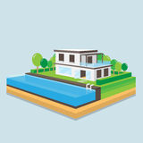Home perspective design. Royalty Free Stock Image