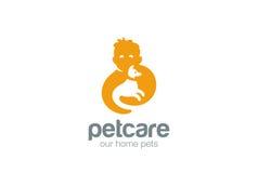Home pets care love Logo design vector Stock Photos