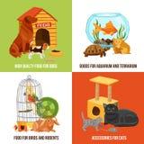 Home Pets 2x2 Design Concept Stock Photo