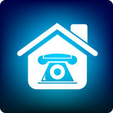 Home phone. Home with a phone inside vector illustration