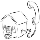 Home Phone Icon Stock Photo
