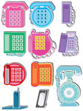 Home Phone Set_eps Royalty Free Stock Photography
