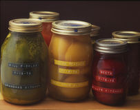 Home Pickling, Preserving, Canning Royalty Free Stock Image