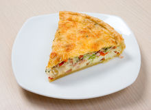 Home pie with cheese and vegetable Royalty Free Stock Photo