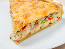 Home pie with cheese and vegetable Royalty Free Stock Image