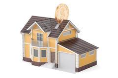 Home piggy bank, savings concept. 3D rendering Royalty Free Stock Photos