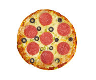 Home pizza  Pepperoni Stock Photo