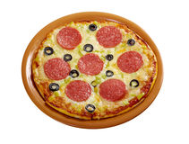 Home pizza  Pepperoni Stock Images