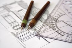 Home plan Royalty Free Stock Photos